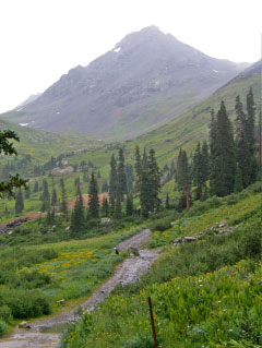 Rain in Yankee Boy Basin